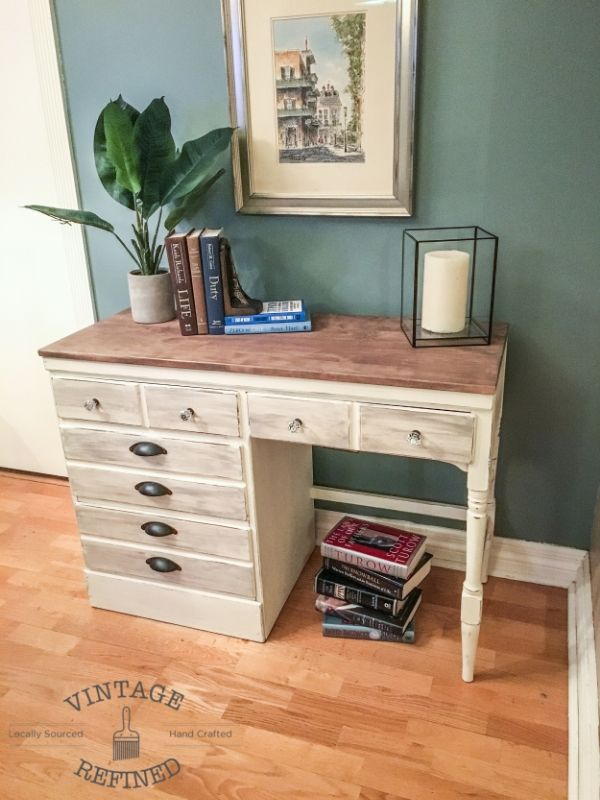 White Wood Desk Makeover White Wood Desk Wood Desk Desk Makeover