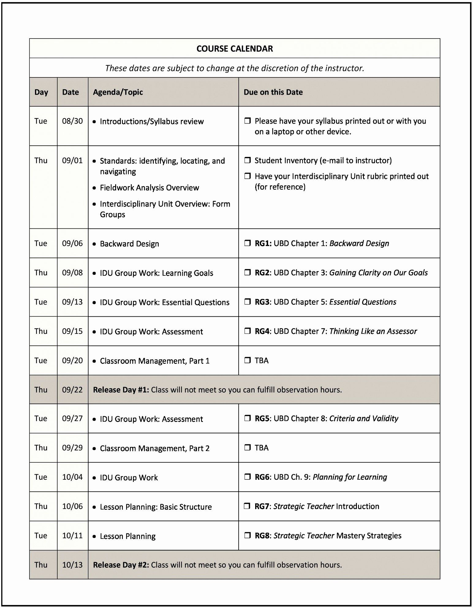 30 Integrated Lesson Plan Template in 2020 Syllabus