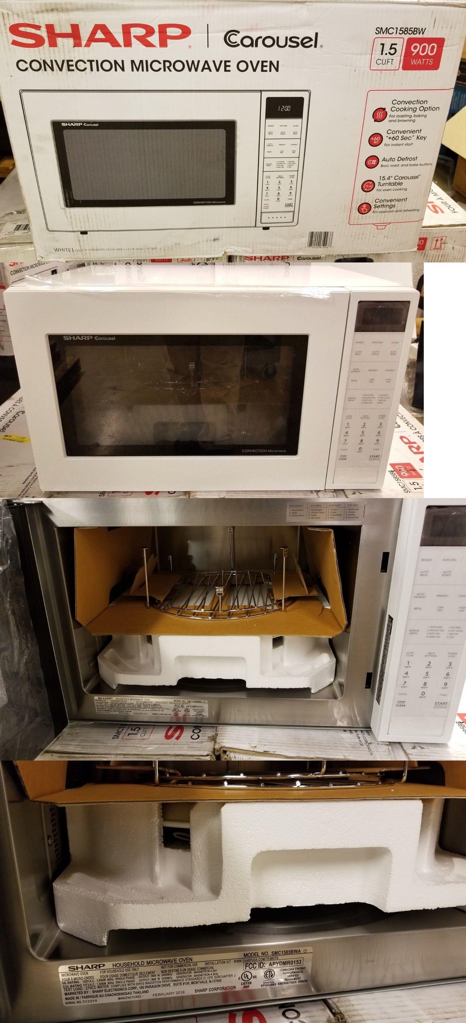 Microwave Ovens 150140 Sharp Smc1585bw 1 5 Cu Ft 900w Carousel
