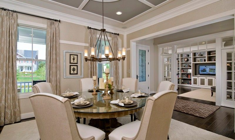 Model home interiors images single family homes model for Model home dining room