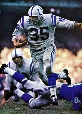 "Alan ""The Horse"" Ameche, plowing through the competition. Old school Baltimore Colt Fullback."