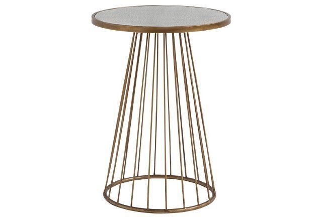 dean antiqued mirrored side table gold accent tables pinterest small tables and room. Black Bedroom Furniture Sets. Home Design Ideas