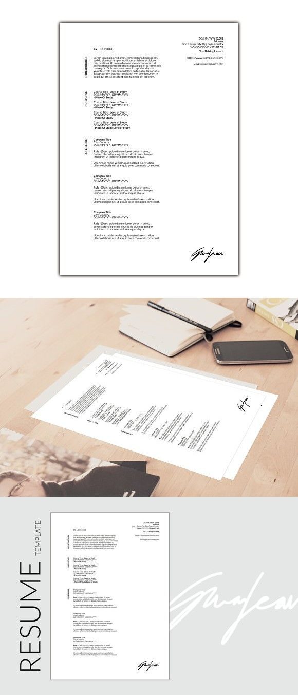 AF Design - CV/Resume Resume Templates Pinterest Create