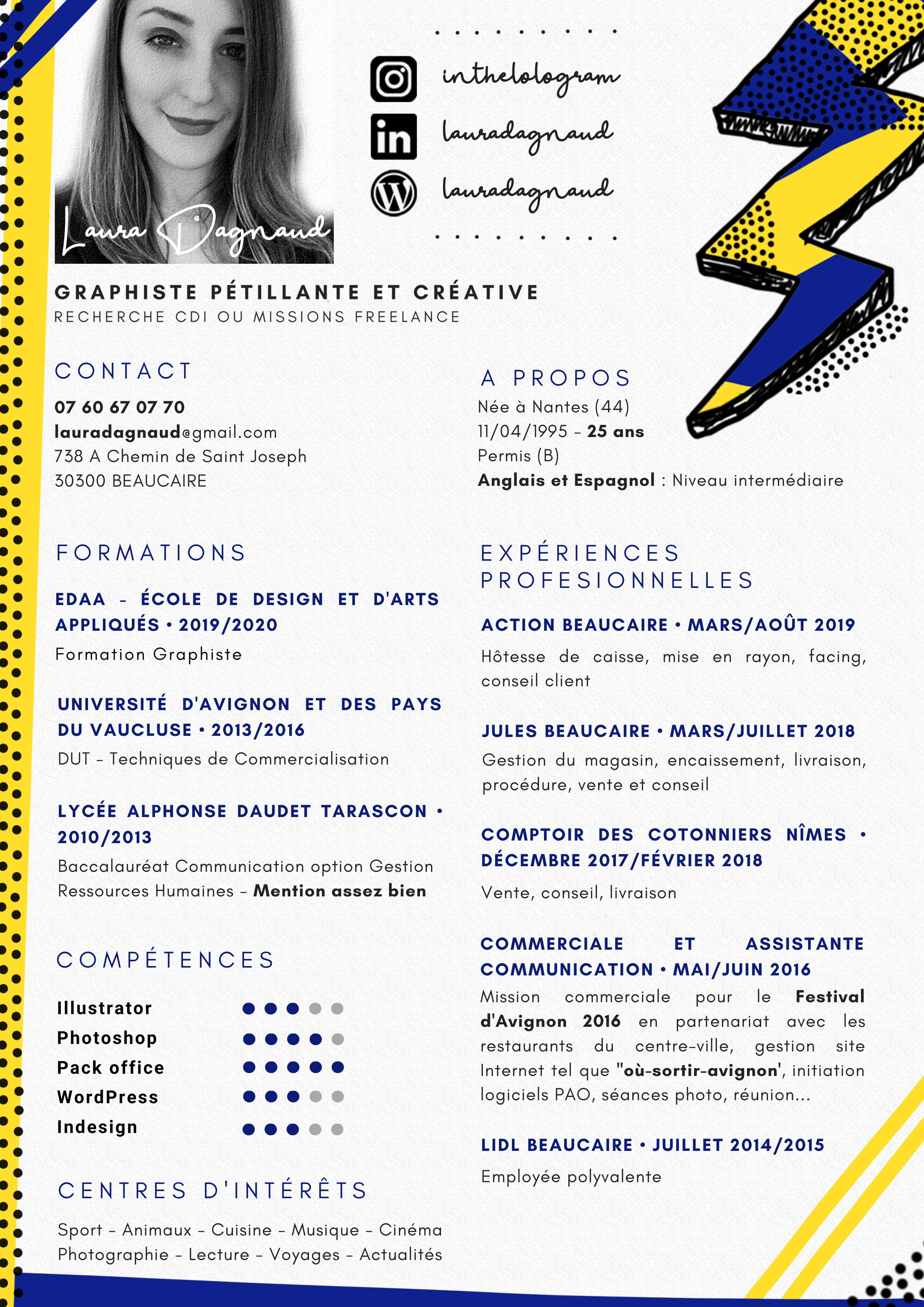 Cv Graphiste Webdesigner