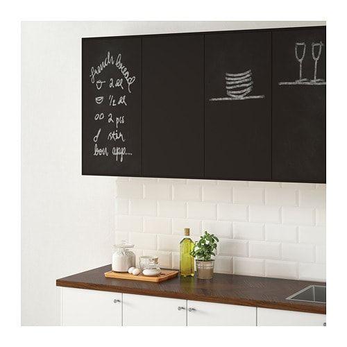 Ikea Uddevalla Anthracite Door With Blackboard Surface