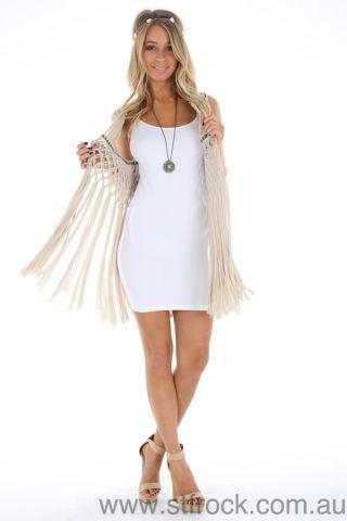 Millie Macrame Vest <3 #stfrock #summer #style #macrame #tassles #cape #vest #fashion #preorder <3 SHOP NOW https://stfrock.com.au/shop-by-category/trend/garden-party/millie-macrame-vest.html <3
