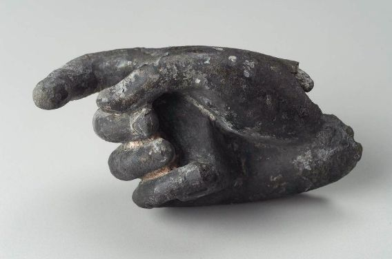 Right hand (bronze) from a statue of Dionysos. Greek, Hellenistic Period,  150–50 B.C. | Sculpture, Greek statues, Hellenistic period