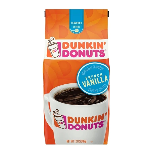 Dunkin' Donuts French Vanilla Flavored Medium Roast Ground