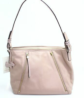 (eBay Ad) Radley London Pink Gold Fountain Road Satchel Leather Handbag Purse $265- #078