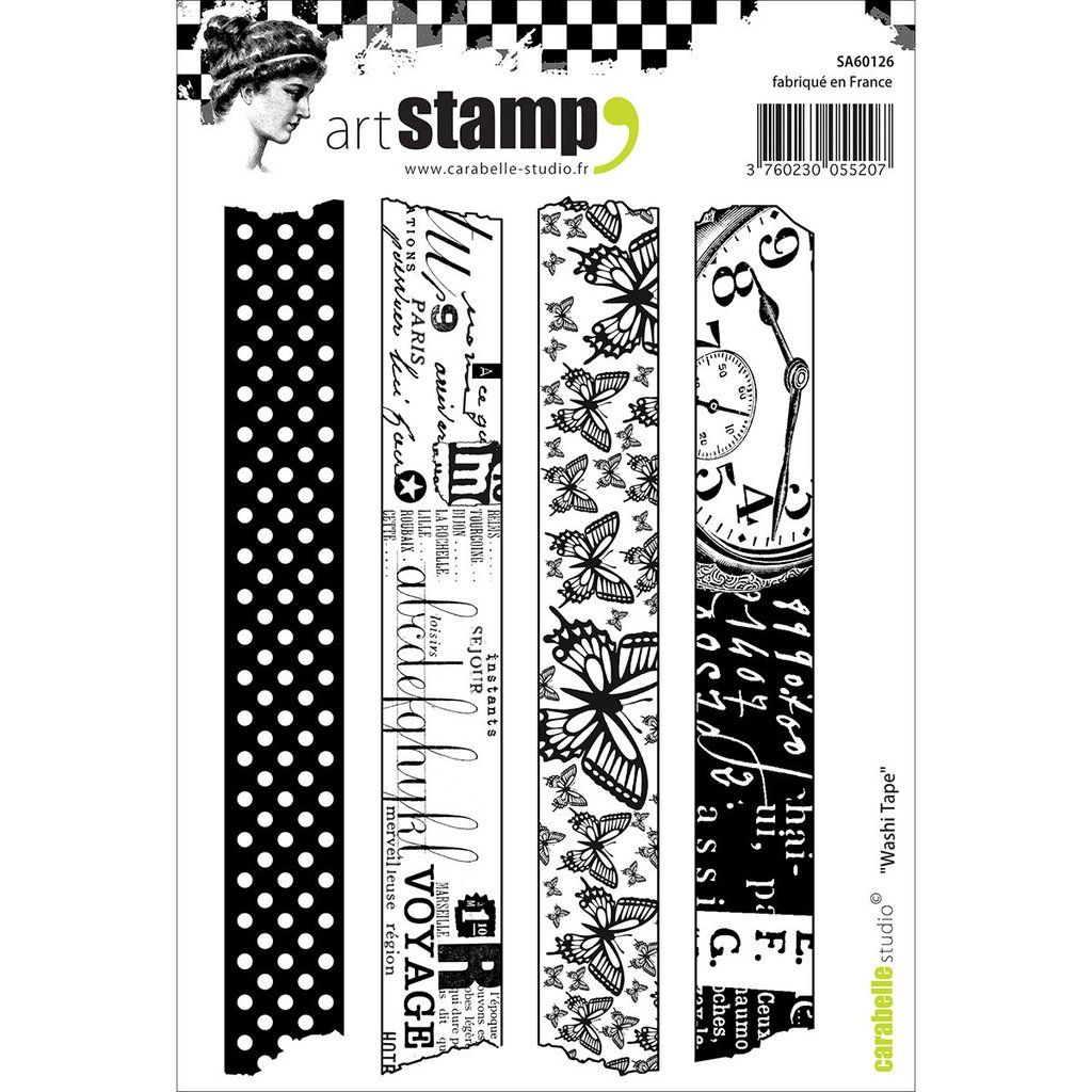 Carabelle Studio Cling Stamp A6 Washi Tape Scrapbooking