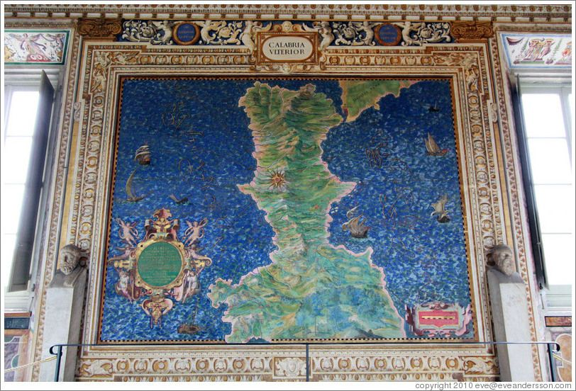 Some of the maps adorning the walls of the gallery of mapsupside some of the maps adorning the walls of the gallery of mapsupside down map the vaticanvatican cityphoto gumiabroncs Image collections