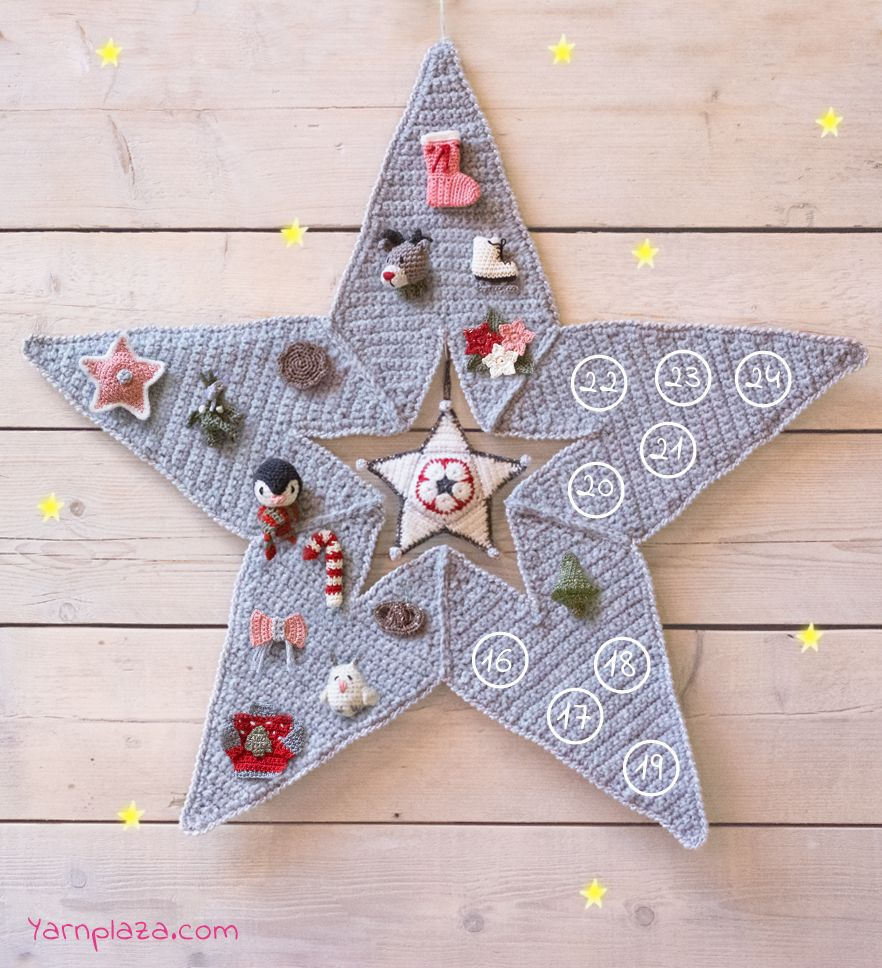 advent star cal free crochet patterns