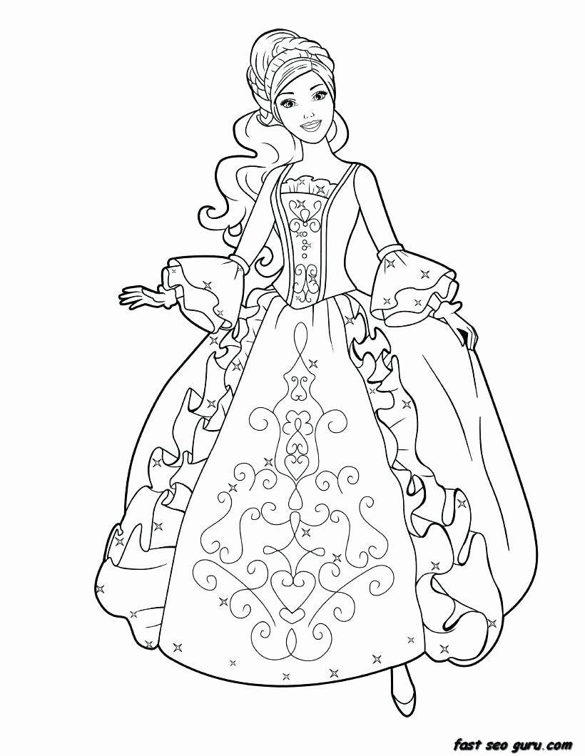 Barbie Printable Coloring Sheets Barbie Coloring Pages Princess
