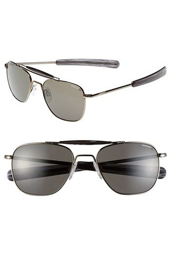 41d841bd6aad1 Randolph Engineering 55mm Polarized Aviator Sunglasses available at   Nordstrom