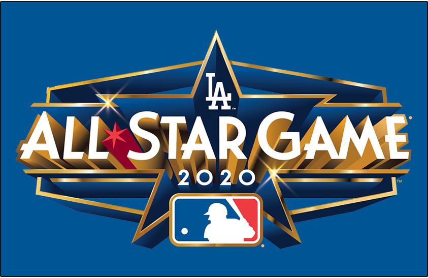 Mlb All Star Game Primary Dark Logo 2020 2020 Mlb All Star Game Logo In Los Angeles Ca On Blue Mlb Team Logos All Star Mlb