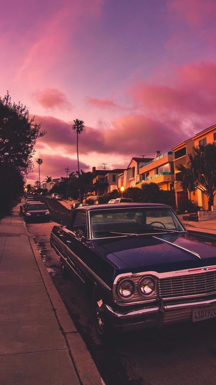 Lowrider Old Sports Cars California Classic Cars Scenery Wallpaper