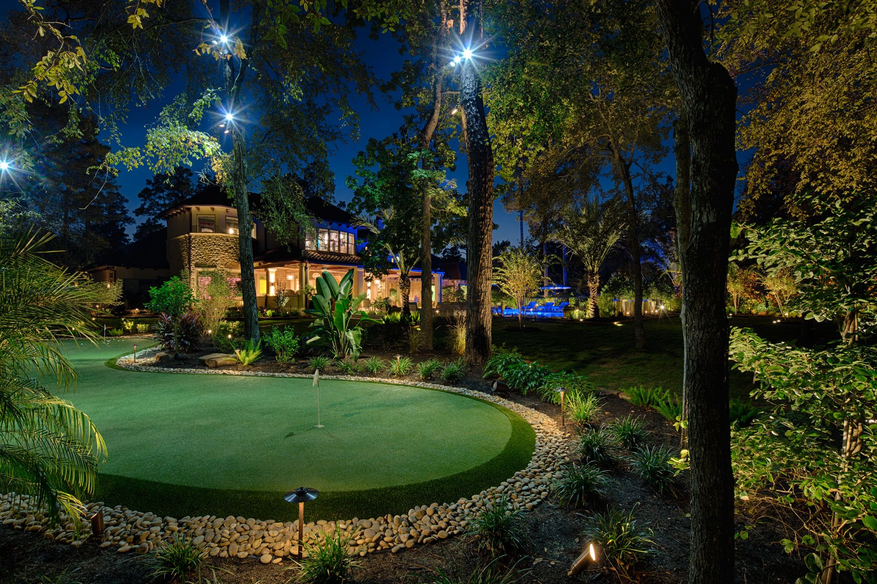 Pathway Lighting Design Ideas Down Lighting On Putting Green | Landscape Lighting|the