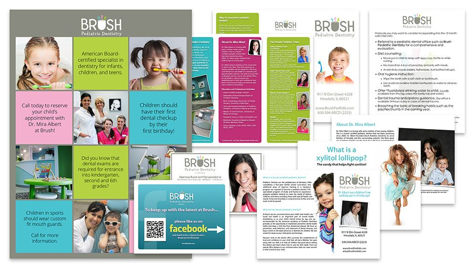 A Brochure Design Perfect For A Kids Dentistry  Dental Brochure