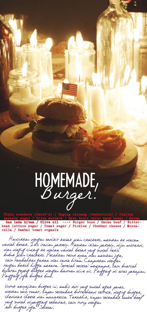 Resep Homemade Burger Resep Burger Cheddar Tomat