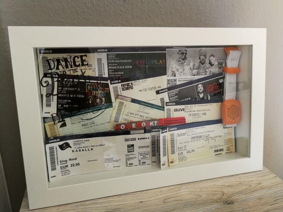 Konzertkarten aufbewahren | Konzertkarten aufbewahren | Pinterest