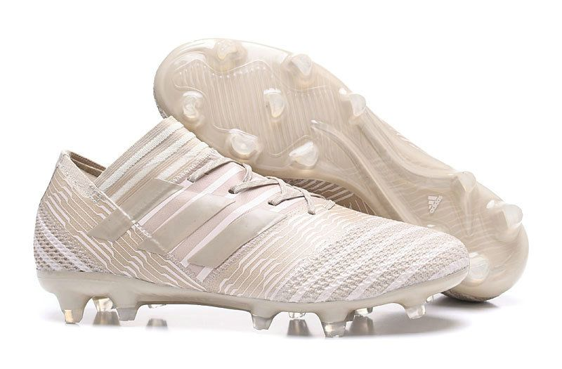 20df5c89f 2018 World Cup Men Adidas Football Nemeziz 17 1 Firm Ground Boots Clear  Brown Sesame Chalk