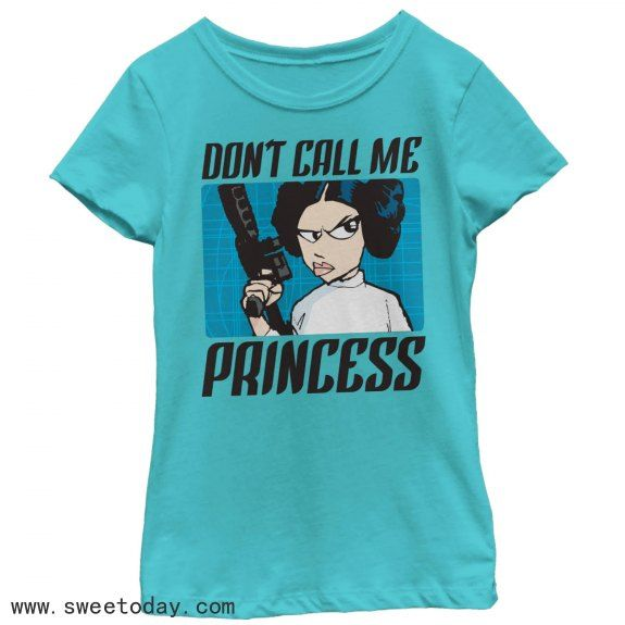 Star Wars Don/'t Call Me Princess Girls Graphic T Shirt