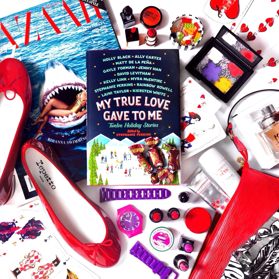My True Love Gave To Me flatlay by michelle othman