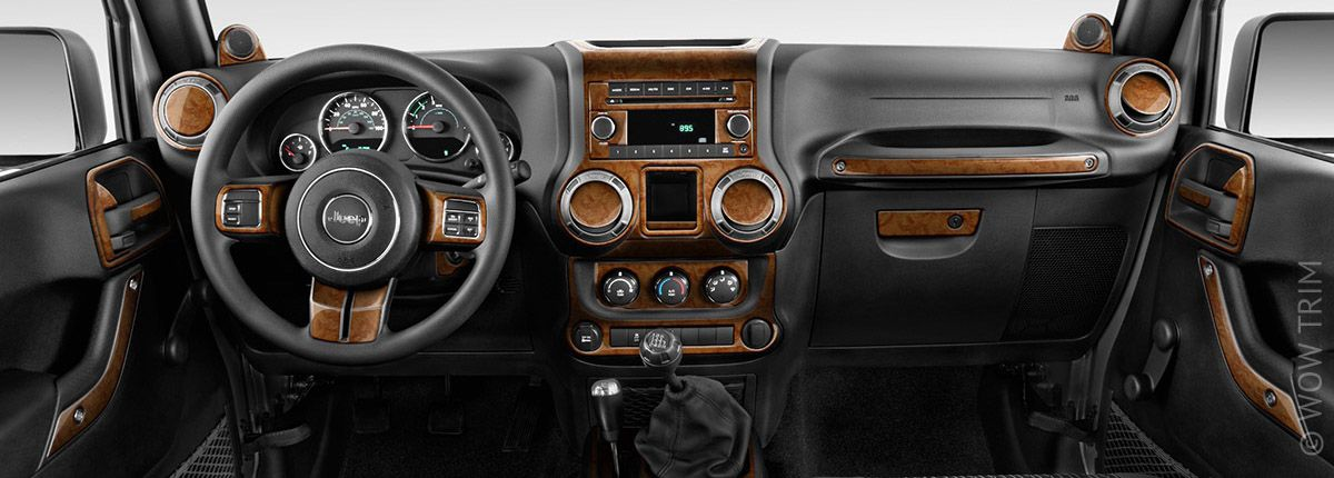 Dash Trim Kits Amp Accessories For Jeep Wrangler Wood Grain