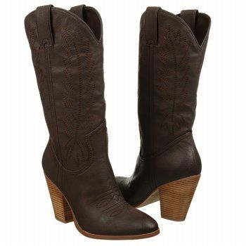 Miranda Lambert Cowboy boots! Traction outsole with guitar imprint. Women's  Brown boots at Famous