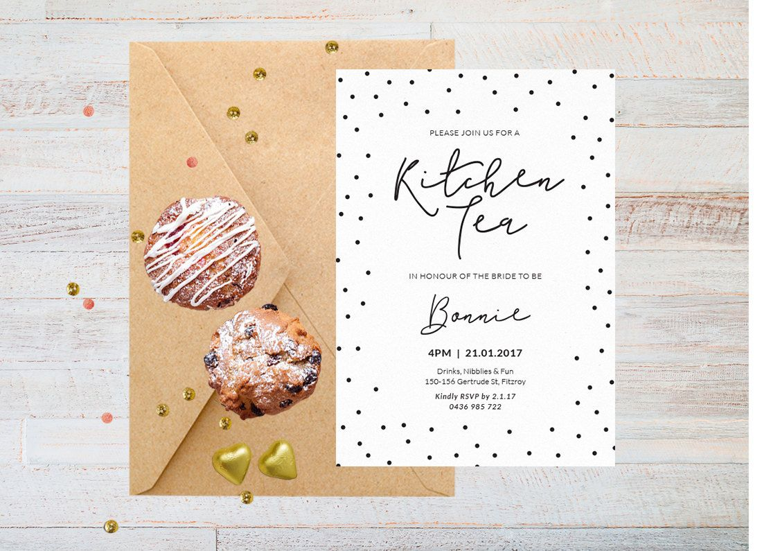 Kitchen Tea Invites Black And White Invitation Kitchen Tea Invitation Kitchen Tea