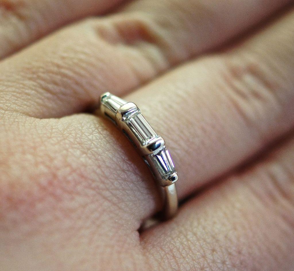Vintage Diamond Ring - 14k White Gold - Size 6 from jkjc on Ruby Lane