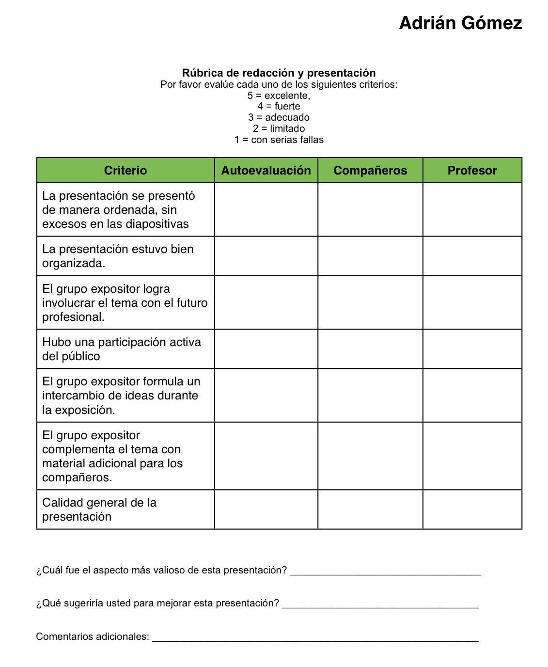Ejemplos De Rubricas Para Evaluar Trabajo En Grupo Buscar Con Google Rúbricas Autoevaluacion Evaluaciones Para Preescolar