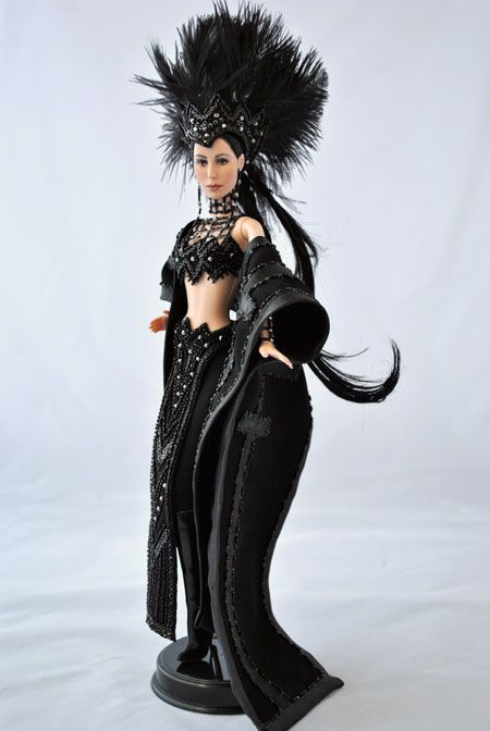 So, Cher really wore this to the 1986 Oscars, eh? I was 3. Wouldn't know. ooak barbie by Magia2000