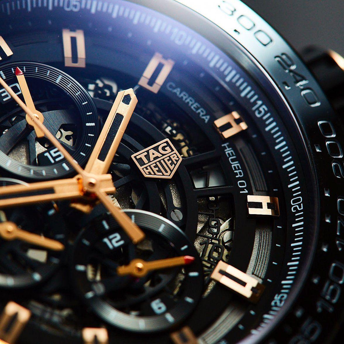 7c6ea464eee Carrera Heuer-01 Rose Gold   Titanium  tagheuer  tagheuercarrera  carrera   heuer01. Relógios ...