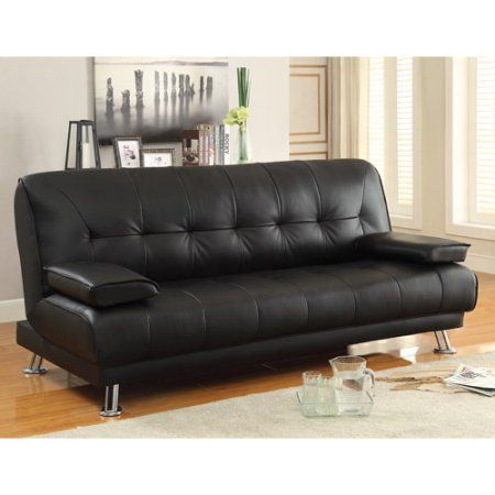 Stupendous Braxton Leatherette Sofa Bed Black Dream House Leather Caraccident5 Cool Chair Designs And Ideas Caraccident5Info