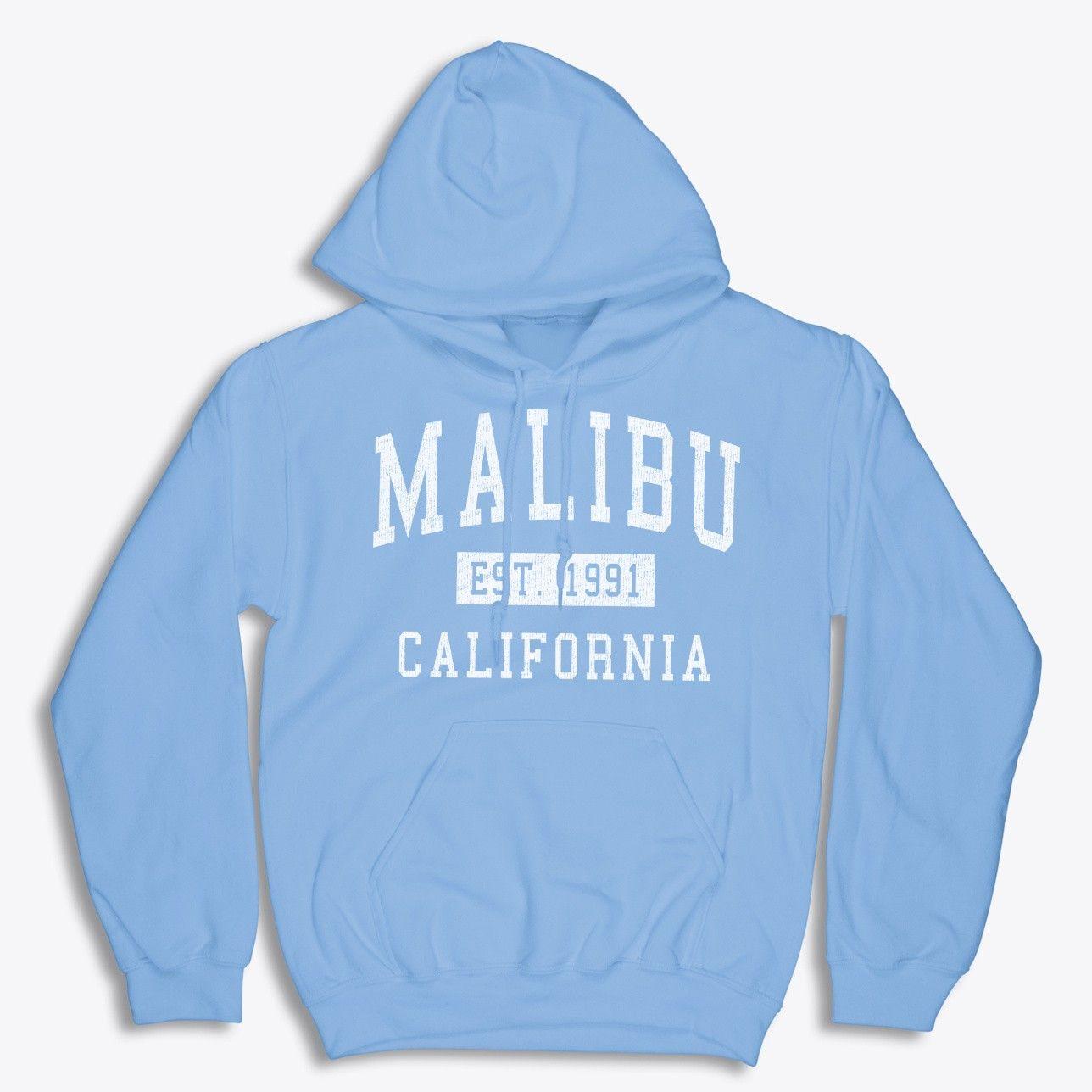 Malibu California Classic Established Crewneck Sweatshirt Sweatshirts Sweatshirts Hoodie Mens Outfits [ 1288 x 1288 Pixel ]