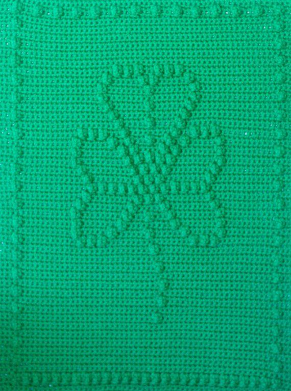 Shamrock Crochet Baby Blanket Pattern Baby Blanket Pattern