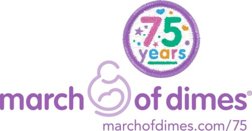 March Of Dimes 75th Anniversary Logo Events Pinterest
