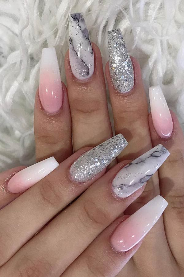 41 Elegant Baby Boomer Nail Designs You Ll Love In 2020 Coffin Nails Designs Best Acrylic Nails Baby Boomers Nails