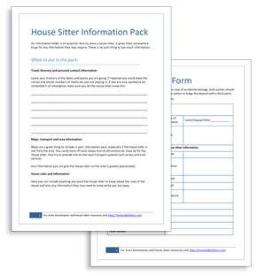 We Will Send You All The Housesitting Agreements Checklists