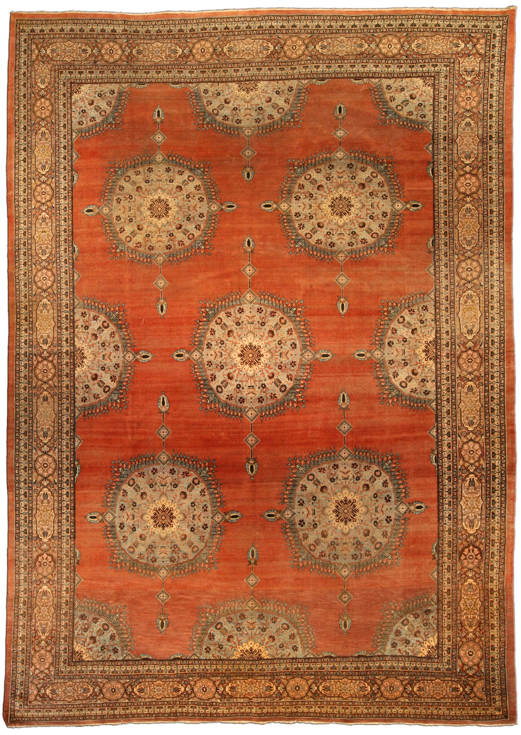 Orientteppich Bidjar 200x300 Antique Persian Tabriz Rug Antique Persian Tabriz Rugs Red