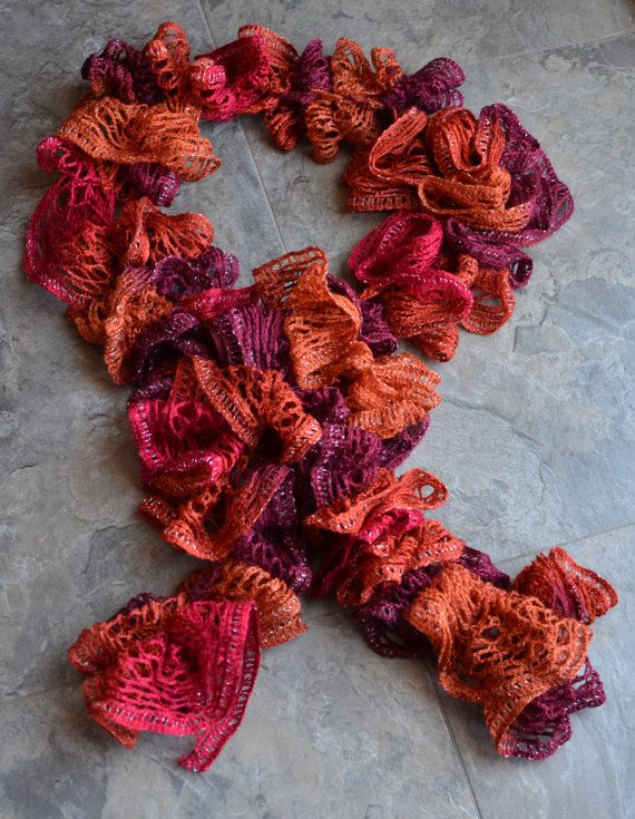 I want to learn to crochet these Red Heart Sashay scarves this ...