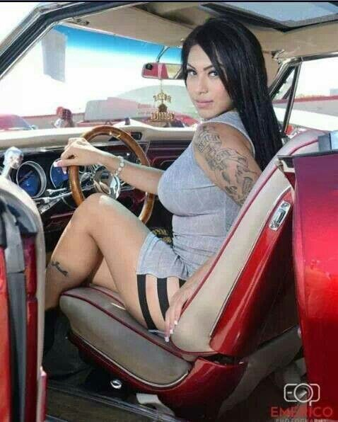 Latinas ass with lowriders does