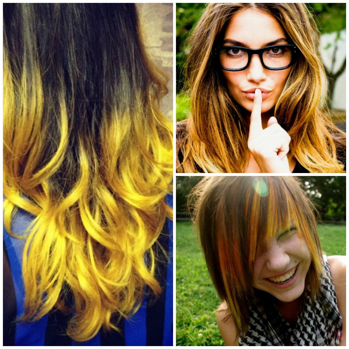 Highlights Yellow in brown hair