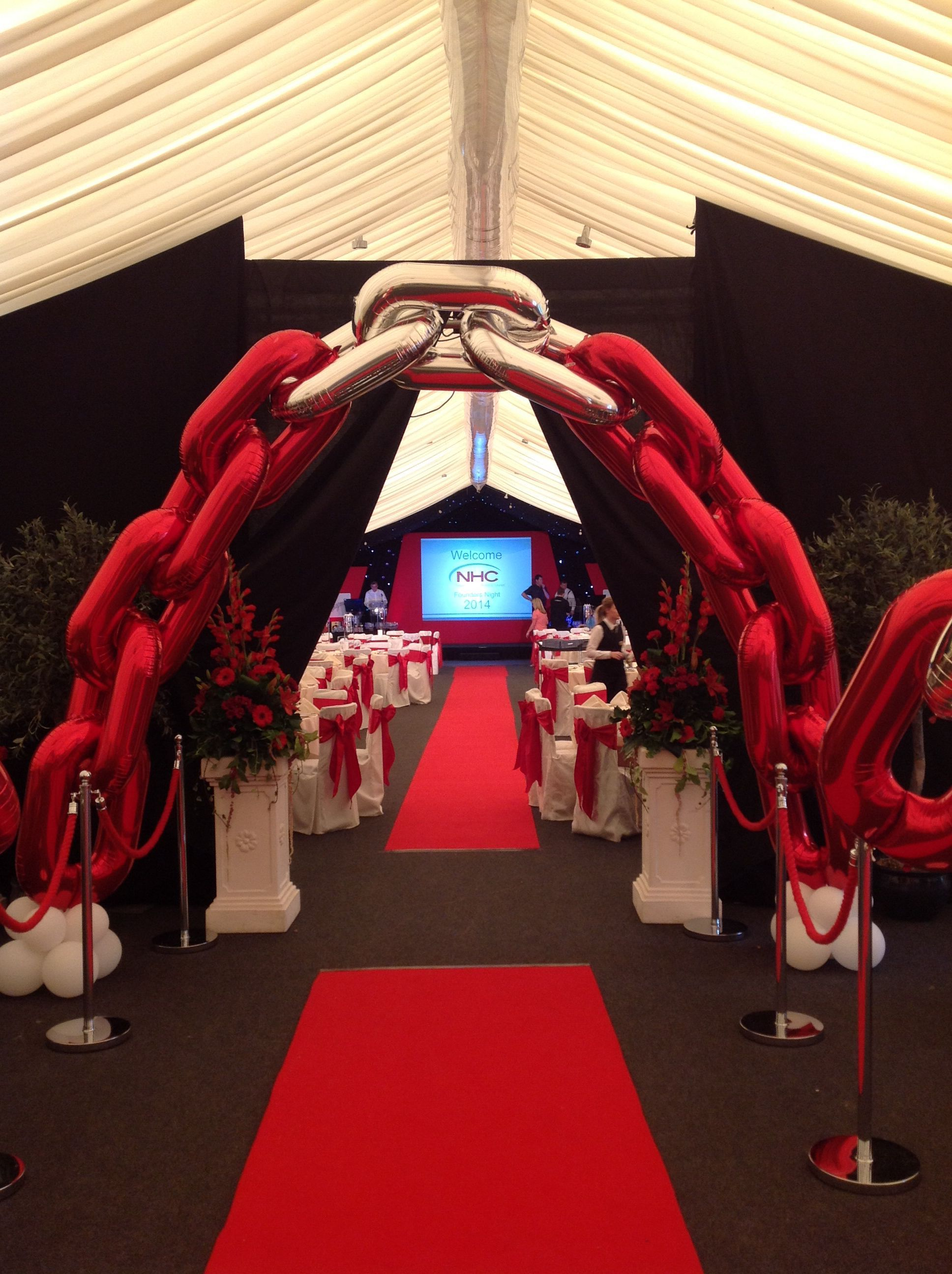 entrance arch using new foil links