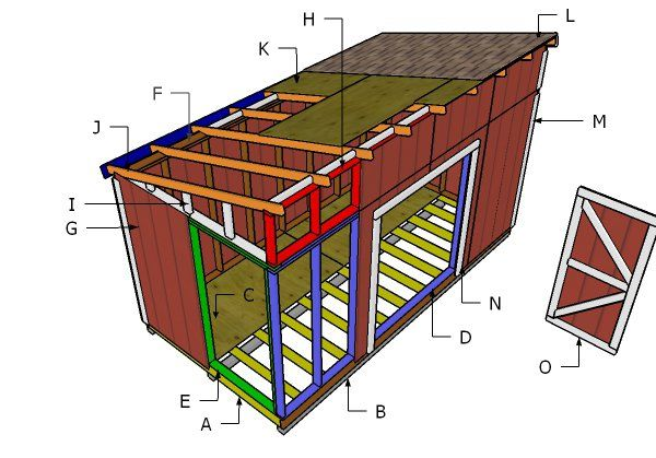 8 16 Lean To Shed Roof Plans Diy Shed Plans Diy Shed Shed Plans