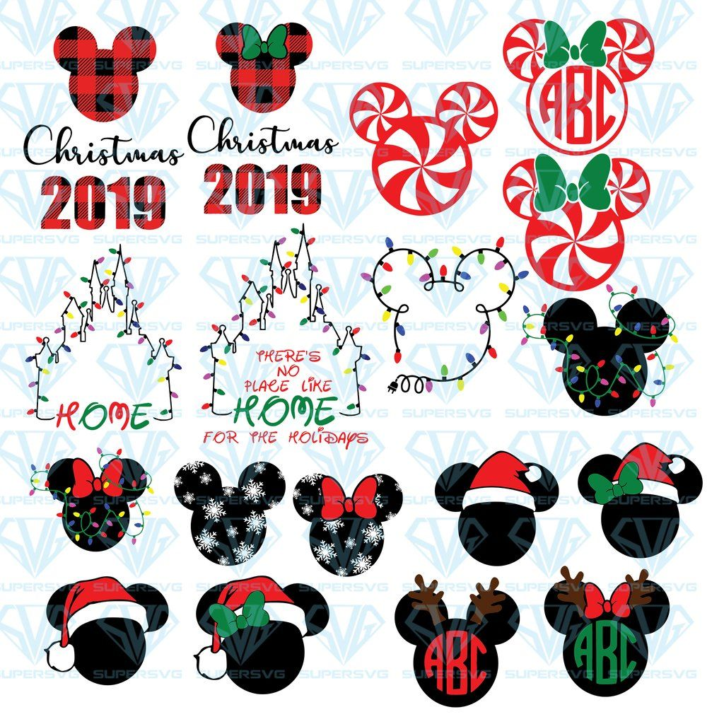 Disney Christmas Bundle SVG Files For Silhouette, Files