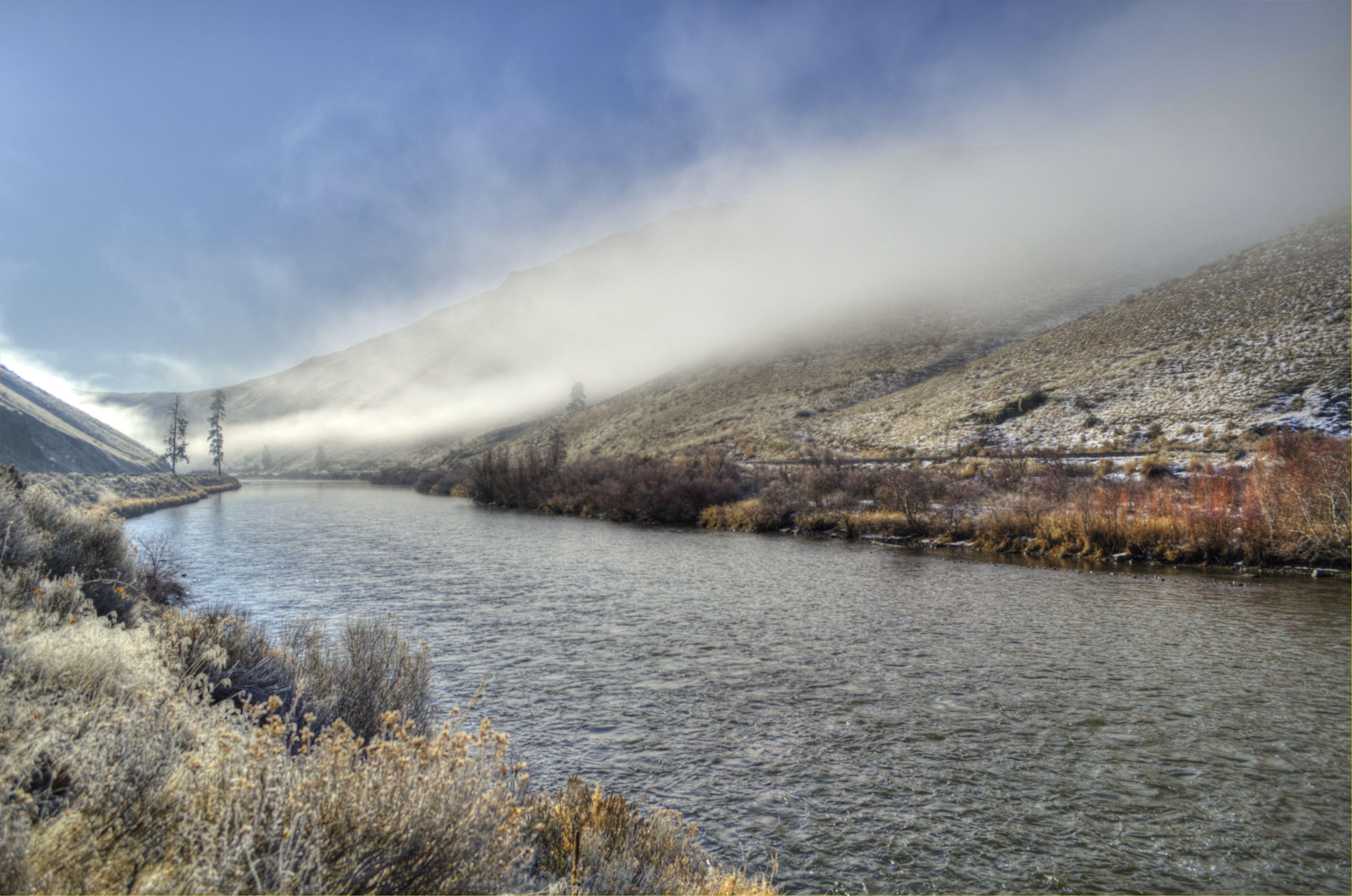 Yakima River Winter Fog Yakima River River Yakima