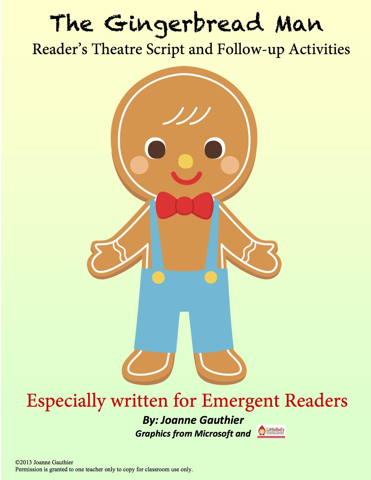 This Gingerbread Man Readers Theatre Script Is Especially Written For
