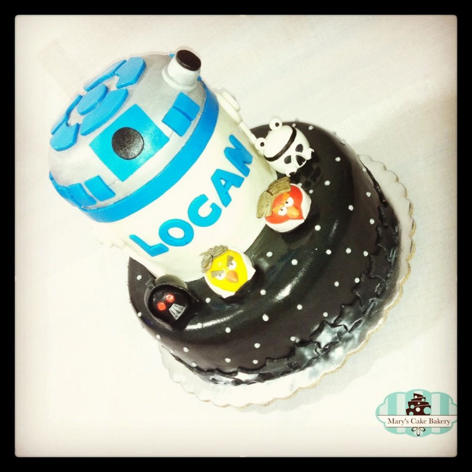 Star Wars Cake - R2D2 Cake - Angry Birds Cake
